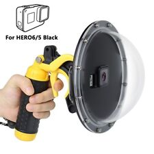 Dome Port Waterproof Camera Diving Lens Cover Trigger for GoPro Hero7 6 5 Black