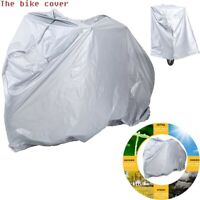 Bike Rain Cover Waterproof Dust Proof UV Protection Protector for Bicycle Silver