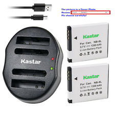 Kastar NB-8L NB8L Battery CB-2LAE Charger for Canon PowerShot A3300 IS Camera