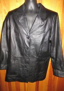 Vintage Women's Size A8 Black Leather Jacket by Venezia