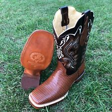 Men's Western Style Rodeo Cowboy Boots Dot Print