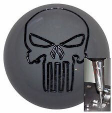 Gray Punisher Skull shift knob for Dodge Chrys Jeep auto stk w/ adapter