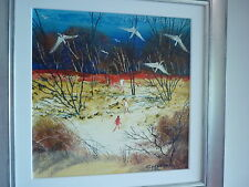 Colleen Parker Oil Painting  figures in a clearing ibis