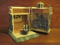 Rare Disney Haunted Mansion Resin Hinged Box with Goofy & Ghost Figure in Buggy