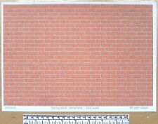 """Dolls house 1/12th scale """"Facing brick - terracotta"""" paper - A4 sheet"""