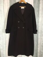 Windsmoor Wool Cashmere Deep Purple Burgundy Long Length Coat Size 12