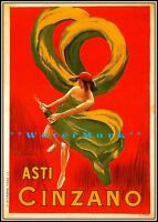 Asti Cinzano 1900 Italian Vintage Poster Print Liquor Advertising Art