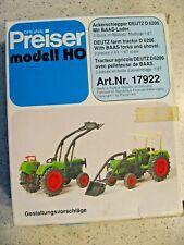 Preiser HO Scale Art.Nr. 17922 Deutz Farm Tractor with BAAS Forks and Shovel