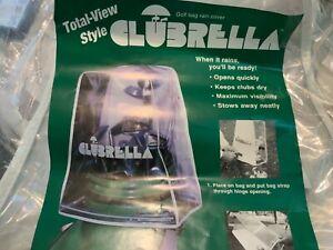 Clubrella Golf Bag rain cover Umbrella Clubs Gift clear total view style