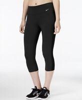 Nike Dri-Fit Legend 2.0 Slim Fit Cotton Capri Crop Legging Black Size Medium