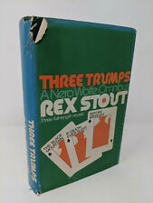 REX STOUT Three Trumps (1973, HB) Nero Wolfe Omnibus 3 Full Length Novels Archie