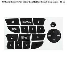 For Renault Clio / Megane 09-11 CD Radio Button Repair Decals Stickers Car TW
