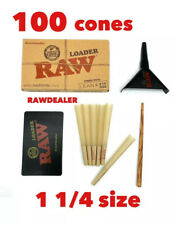 raw classic 1 1/4 size pre rolled cone(100 pack)+raw cone loader