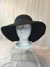 d5e7065ea11 D Y Womens Black 100% Wool Fedora Hat w Ribbon Band 1 SZ Style Afp7339 Brim