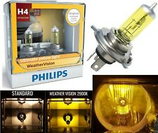 Philips Weather Vision Yellow 2900K 9003 HB2 H4 60/55W Two Bulbs Head Light Dual