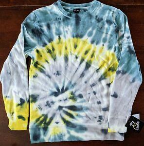 Boys Tie-Dye Pullover Sweatshirt - art class Blue/Yellow M 8-10