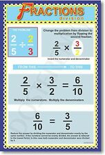 Fractions - Division - Classroom Educational Math Poster