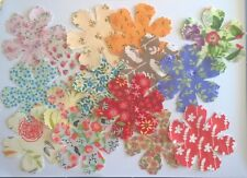 Feathered Flowers large flowers fabric Pack remnants patchwork bundle 100%cotton