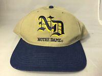 Vintage Notre Dame NCAA Football Basketball Snapback Adjustable Logo Hat Team ND