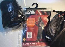 NEW STAR WARS DARTH VADER Child Halloween Costume Large 12 / 14 Mask Cape Suit