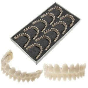 10 Set/Pack Dental Synthetic Resin False Fake Teeth Denture A2 Upper&Lower Shade