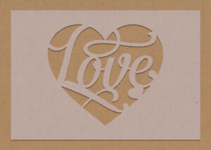 Shabby Chic Love Heart Stencil A6 - A3 Valentines craft decorating