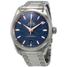 Omega Seamaster Aqua Terra Co-Axial Master Chronometer Automatic Blue Dial Men's