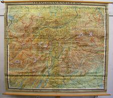 Schulwandkarte Karte Tirol Innsbruck Ortler Südtirol Trient Garda Alpen 203x181