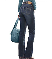 Cheer Bootcut-Jeans Petra Damen Denim-Hose 5-Pocket-Style Freizeit-Hose Blau