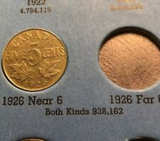 1926 CANADA 5 cents KING GEORGE V NICKEL COIN