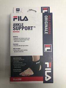 """FILA Ankle Support Neoprene Black Left or Right Ankle Size 8""""-11"""" New"""
