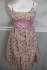 Betsey Johnson evening pink floral embroidery bubble dress size 4 (DR 400)