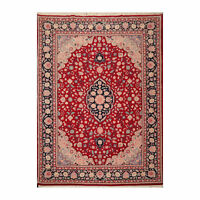 "8'10"" x 11'11"" Hand Knotted Wool Romanian Tabrizz Traditional Area Rug Red 9x12"
