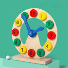 Safe Wood Clock Toy Time Teaching Cognitive Educational Toys for Kid's Toddlers