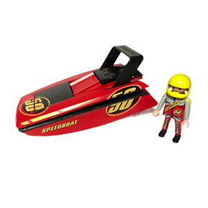Playmobil Speedboat 50 With Belt Clip 4341 Plus Driver