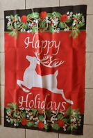 Happy Holidays Deer Decorative House Flag