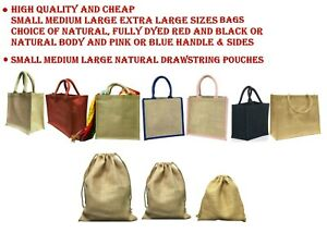 Jute Hessian Bag Small Medium Large cheap wholesale Lunch Bag Shopping Bag Pouch
