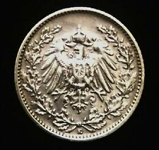 Historical Antique- German Half Mark SILVER Coin - More than 100 Years Old Coin