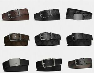 COACH WIDE HARNESS CUT-TO-SIZE REVERSIBLE BELT 38mm Width