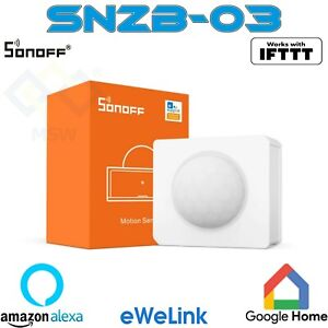 SONOFF SNZB-03 ZigBee Sensore Di Movimento PIR WIFI WIRELESS Alexa e Google Home