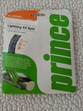 NEW Prince Lightning XX Spin 16 clear/bl color tennis racquet string 1.3mm 40ft.