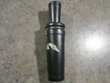 Vintage H S calls John Spotts pewter Goose head single reed Goose call Euc