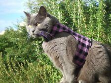 LAND O' BURNS BENGALS CAT WALKING JACKET  HARRIS TWEED PURPLE & BLACK - MEDIUM