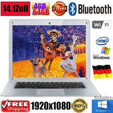 "14.1"" FHD 1920*1080 64GB+4GB Windows10 WIFI BT Tablet LaptopBT4.0 HDTV USB3.0"