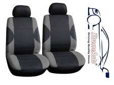 6 PCE Paddington Black/Grey Front Car Seat Covers For Mazda 1, 2, 3, 323, 6, 626
