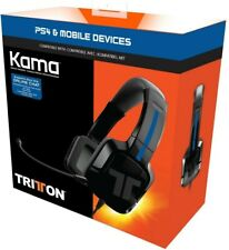 TRITTON Kama Stereo Headset for PlayStation 4, Xbox One, Nintendo Switch - New