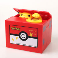 Pokemon Pikachu Electronic Money Safe Box Steal Coin Piggy Bank Kids Gift Toy