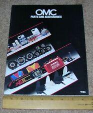 1986 OMC Marine Products Catalog Controls Gauges Steering Tachometers Skis Etc.