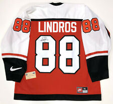 ERIC LINDROS SIGNED NIKE PHILADELPHIA FLYERS 1997 STANLEY CUP JERSEY STEINER COA