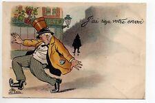 Theme carte illustrateur G. LION  grivoise coquine osé j'ai reçu votre envoi pot